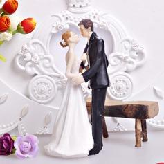 Kyssa kopplar ihop Harts Bröllop Tårtdekoration