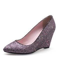 Naisten Kuohuviini glitteri Wedge heel Kiilat jossa Muut kengät