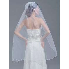 Uno capa Recortada Velos de novia vals
