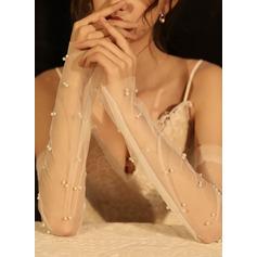 Tüll Opera Länge Braut Handschuhe (014219780)