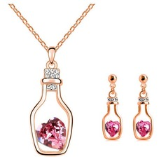 Beautiful Gold Plated/Metal With Crystal Jewelry Sets