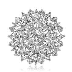 Romántico Aleación/Diamantes de imitación con Rhinestone Señoras' Broche