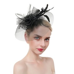 Ladies' Eye-catching/Charming/Romantic Feather/Net Yarn With Feather Fascinators/Tea Party Hats