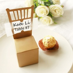 50th Anniversary Gold Chair Favor Box