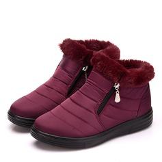 Women's Cloth Flat Heel Flats Boots shoes