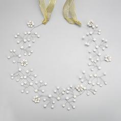 Elegante Aleación/La perla de faux Diademas