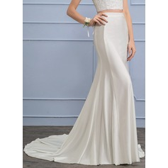 Separates Court Train Jersey Wedding Dress