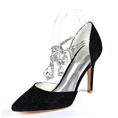 Kvinner Glitrende Glitter Stiletto Hæl Pumps med Rhinestone