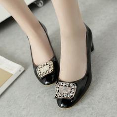 Naisten Keinonahasta Chunky heel Avokkaat Suljettu toe jossa Tekojalokivi kengät