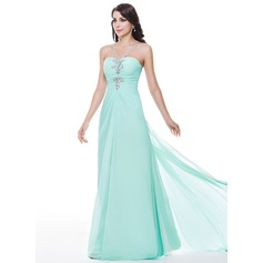Trumpet/Mermaid Sweetheart Watteau Train Chiffon Evening Dress With Ruffle Beading Sequins