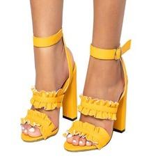 Femmes Suède Talon bottier Sandales chaussures