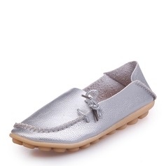 Women's Leatherette Flat Heel Flats Closed Toe With Split Joint shoes
