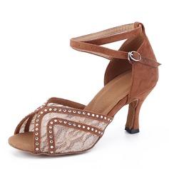 Dámské Semiš Na podpatku Latinské Taneční boty