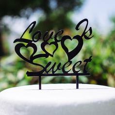 el amor es dulce Acrílico Boda Decoración de tortas