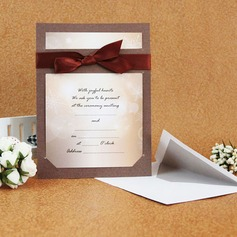 Classic Style Flat Card Invitation Cards With Ribbons  (114030777)