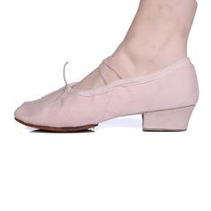Mulheres Tecido Bombas Balé com Bowknot Sapatos de dança