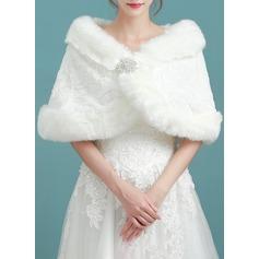 Pälsimitation Wedding Bolerojackor