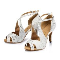 Femmes Suède Talons Sandales Latin avec Boucle Ouvertes Chaussures de danse