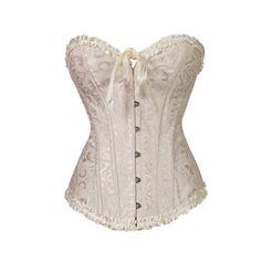 Damen Sexy/Hochzeitsreise Polyester/Elasthan Taille Cincher mit Rüschen/Druck Formwäsche