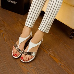 Naisten Keinonahasta Matala heel Sandaalit kengät