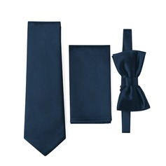 Modern Tie Bow Tie Pocket Square satin
