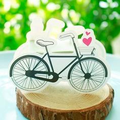 En forme de bicyclette Carte papier Boîtes cadeaux (Lot de 12)