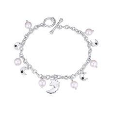 Élégante Alliage/Pearl Dames Bracelets