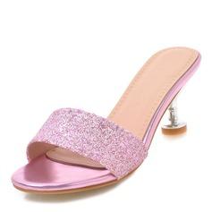 Frauen Funkelnde Glitzer Stöckel Absatz Sandalen Absatzschuhe Peep Toe Slingpumps mit Andere Schuhe
