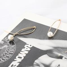 Vackra Och Legering Fauxen Pärla med Oäkta Pearl Kvinnor Mode örhängen