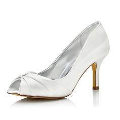 De mujer Satén Tacón stilettos Sandalias Zapatos Que Se Pueden Teñir