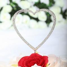 """""""Amoroso você Com todo o meu coração"""" Cromado Casamento Decorações de bolos"""