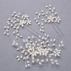 Encanto Aleación/La perla de faux Horquillas/Peines y pasador (Se venden en una sola pieza)