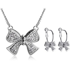 Bowknot Metal Ladies' Jewelry Sets