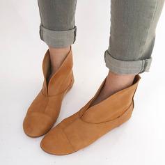 Kvinnor Konstläder Flat Heel Platta Skor / Fritidsskor Boots med Andra skor