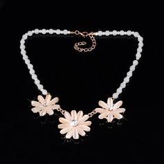 Niza Aleación Diamantes de imitación con Perlas de imitación Rhinestone Señoras' Collar de la manera