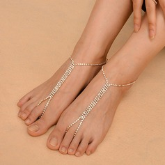 Rhinestone Alloy Foot Jewellery (Sold in a single piece) (107130778)