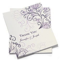 Personalizado Estilo Florais Obrigado cartões