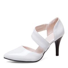Женщины кожа Высокий тонкий каблук Сандалии На каблуках Закрытый мыс с Другие обувь
