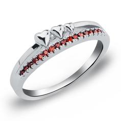 Romântico Cobre/Zircon/Platinadas Senhoras Anéis