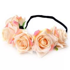 Dame Smukke Silke Blomst Pandebånd (Sælges i et enkelt stykke)