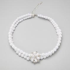 Hermoso Aleación/Diamantes de imitación/Perlas de imitación Señoras' Collares