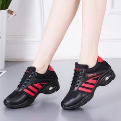 Femmes Similicuir Mesh Tennis Modern Style Jazz Baskets Chaussures de danse