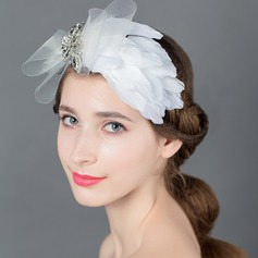 élégant Strass/De faux pearl/Fil net/Feather Fleurs et plumes