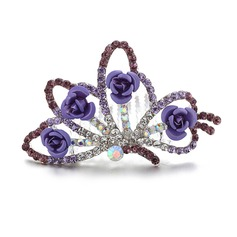 Charme Strass/Liga Diademas/Capacete da menina flor