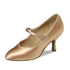 De mujer Satén Tacones Salón Sala de Baile Zapatos de danza