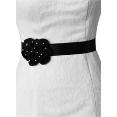 Beautiful Satin Sash With Flower (015151755)
