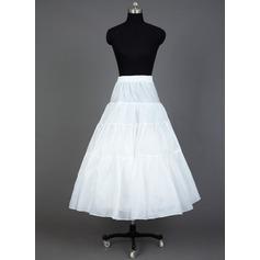Women Taffeta/Organza Floor-length 3 Tiers Petticoats