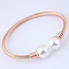 Mode Legering Fauxen Pärla med Oäkta Pearl Kvinnor Mode Armband (Säljs i ett enda stycke)