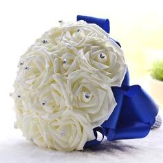 Fascinante Redondo Espuma Buquês de noiva