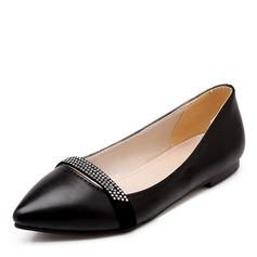 Donna Similpelle Senza tacco Ballerine con Strass scarpe